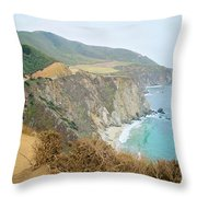 Pacific Coast Highway Dreams Throw Pillow