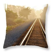 Pacific Coast Starlight Railroad Throw Pillow