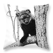 Pacific Fisher Throw Pillow