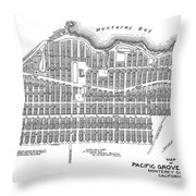 Pacific Grove May 7 1887 Throw Pillow