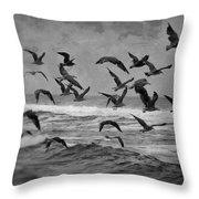 Pacific Gulls Throw Pillow