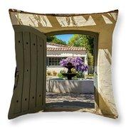 Pacific House Garden Throw Pillow