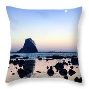 Pacific Moonset Throw Pillow