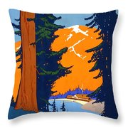 Pacific Northwest, American And Canadian Rockies, National Park Throw Pillow