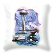Pacific Northwest Montage  Throw Pillow