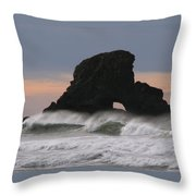 Pacific Northwest Waves Throw Pillow