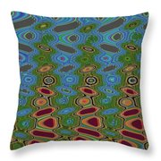 Pacific Ocean From Oregon Abstract Throw Pillow