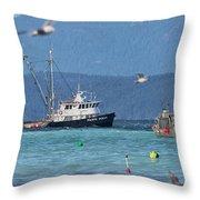 Pacific Ocean Herring Throw Pillow