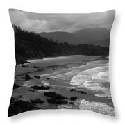 Pacific Ocean Moody Scenic Throw Pillow