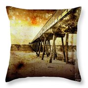 Pacific Pier Throw Pillow