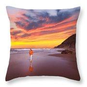 Pacific Sunset Throw Pillow