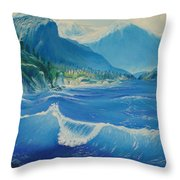 Pacific Wave Throw Pillow