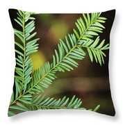Pacific Yew Throw Pillow