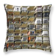 Pack And Stack - Costa Del Sol   Spain Throw Pillow