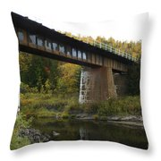 Pack River Bridge Throw Pillow