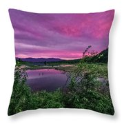 Pack River Sunset Throw Pillow