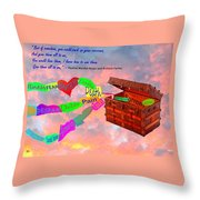Pack Up Your Sorrows Throw Pillow