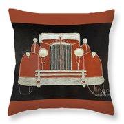 Packard 1937 Red Throw Pillow