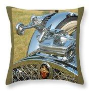 Packard Hood Ornament Throw Pillow