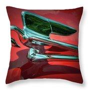 Packard Caribbean Hood Ornament Throw Pillow