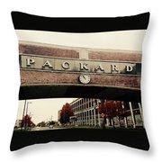 Packard Plant Throw Pillow