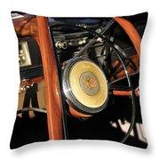 Packard Steering Wheel Throw Pillow
