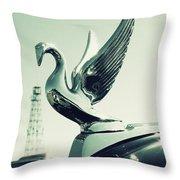 Packard Swan Hood Throw Pillow
