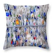 Packed Plastic Throw Pillow