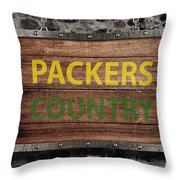 Packers Country Medieval  Throw Pillow