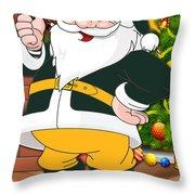 Packers Santa Claus Throw Pillow