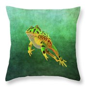 Pacman Frog Throw Pillow