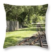 Padarn Lake Railway Throw Pillow