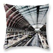Paddington Station London Sketch Throw Pillow