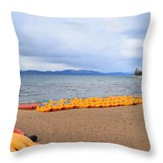 Paddle Boat Anyone Throw Pillow