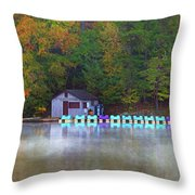 Paddle Boats On The Lake Throw Pillow