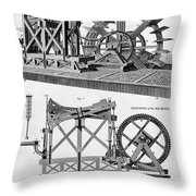 Paddle-driven Beam-engine Suction Pump Throw Pillow