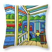 Paddle Taxi - Rum 138 Throw Pillow