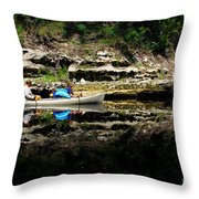 Paddle The Suwannee Throw Pillow