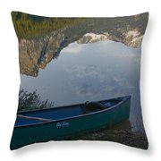 Paddle To The Mountains Throw Pillow