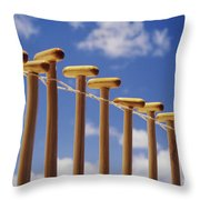 Paddles Hanging In A Row Throw Pillow
