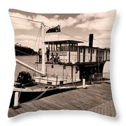 Paddlesteamer Throw Pillow
