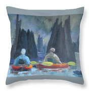 Paddling Dead Lakes 2 Throw Pillow