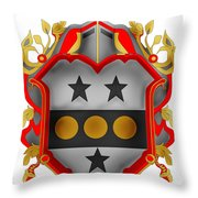 Paddock Family Crest Throw Pillow