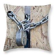 Padlock And Chain Throw Pillow