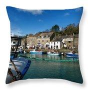Padstow Harbour  Throw Pillow