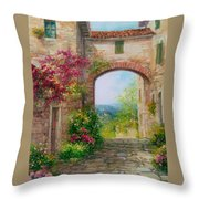 Paese In Toscana - Italy Throw Pillow