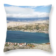 Pag Old Town In Croatia Throw Pillow