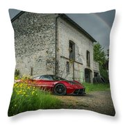 Pagani Huayra Rainbow Throw Pillow
