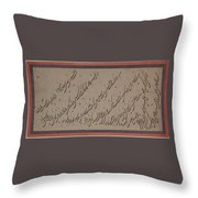 Page Of Calligraphy Throw Pillow