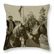 Pageantry In Sepia Throw Pillow